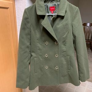 Olive green guess coat